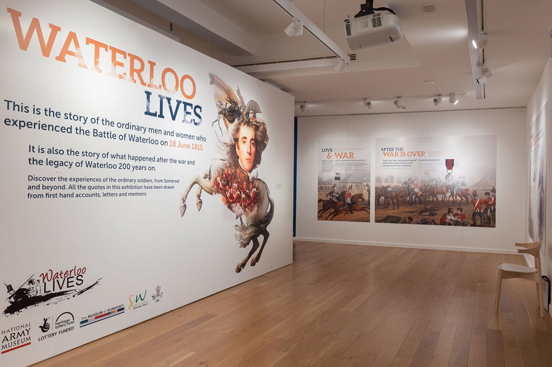 This part of the museum looks at the Battle of Waterloo which took place in 1815