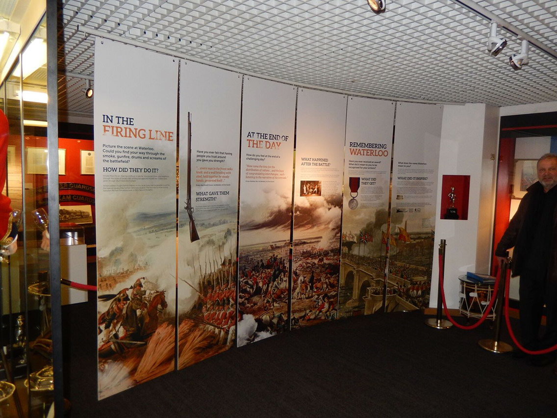 Visitors can read about the history of the British Army