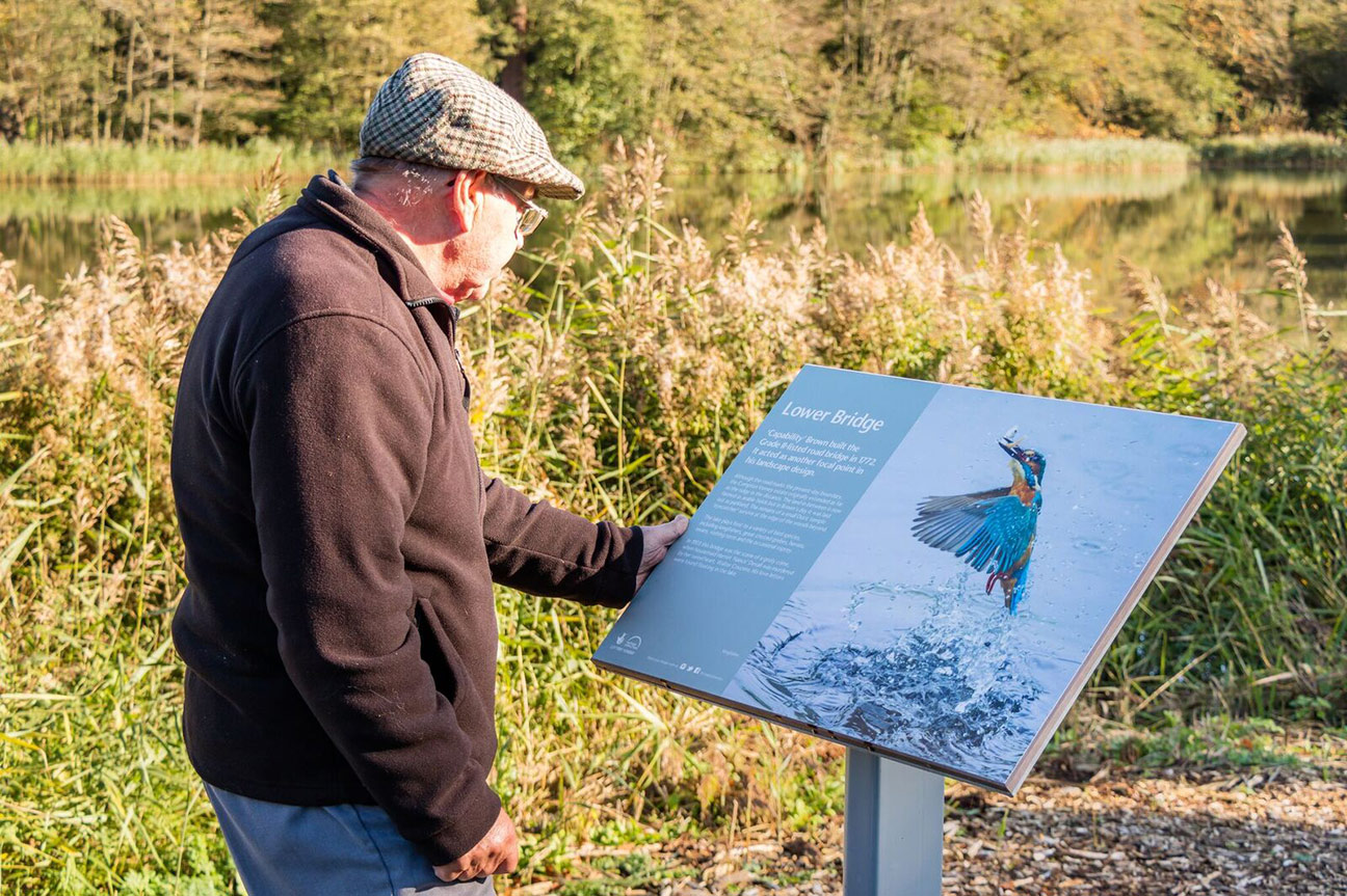 One of many inspiring outdoor information boards at Compton Verney