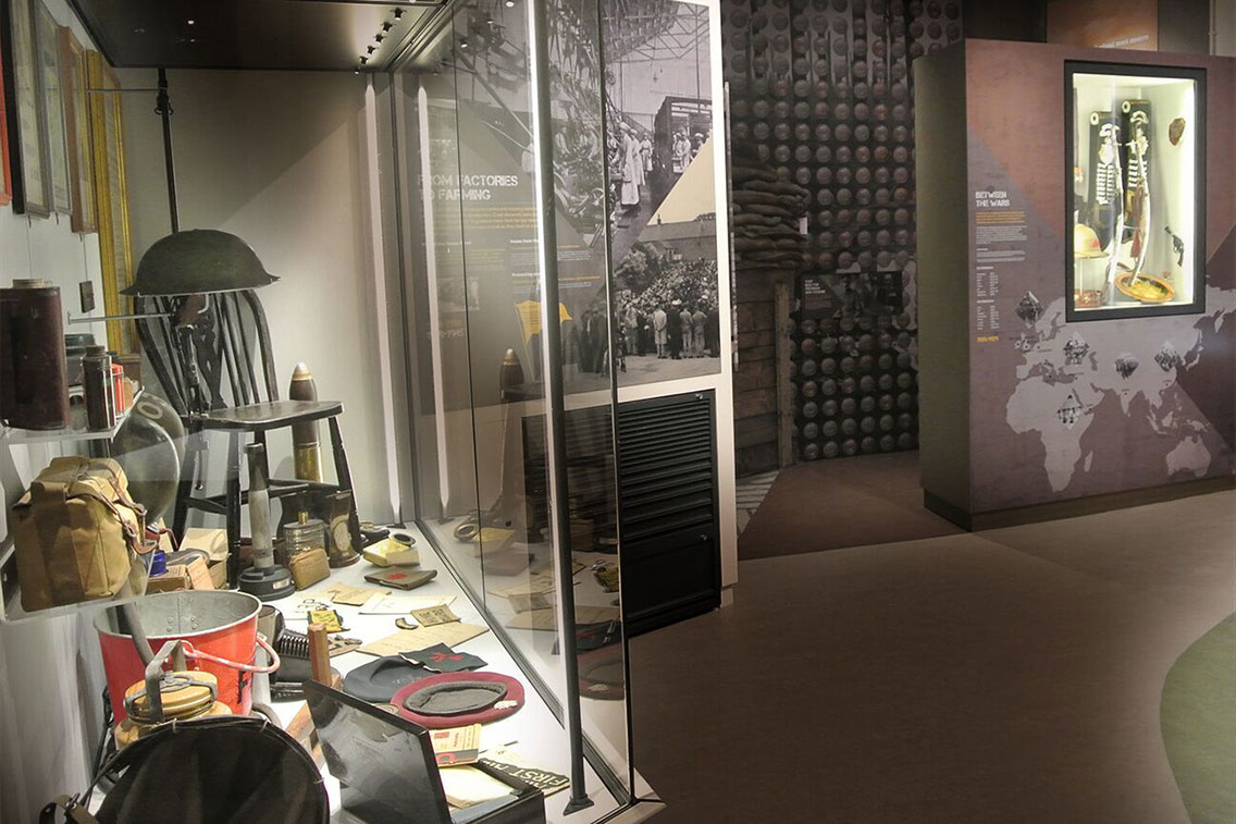 A display at Cumbria's museum of military life