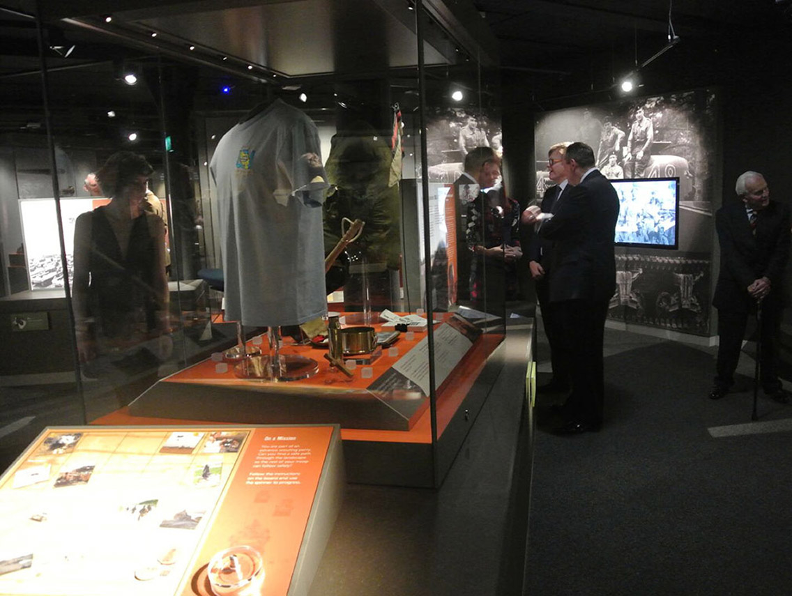 Visitors enjoying the story of the Light Dragoons at the Discovery Museum, Newcastle