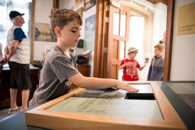 Exploring an interative puzzle on Huntingdonshire's heritage at Norris Museum, St