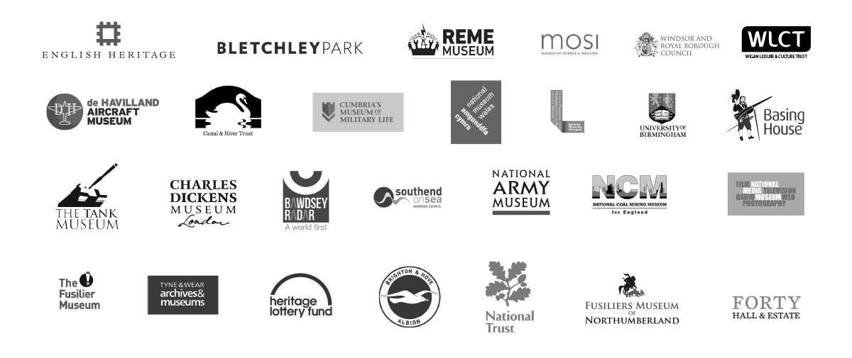 Our clients, including National Trust, English Heritage, Heritage Lottery Fund and REME Museum