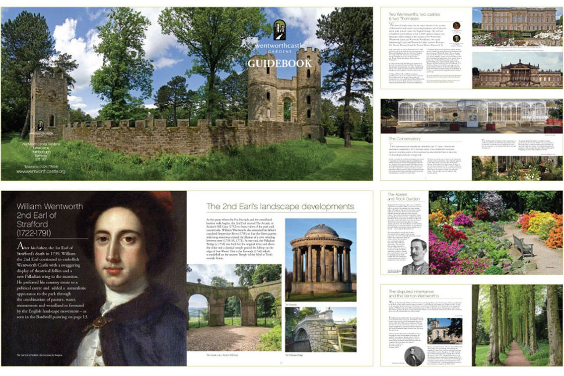 Extract of the Wentworth Castle Gardens guidebook detailing the site's history